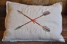 Pi Beta Phi arrows pillow #piphi #pibetaphi