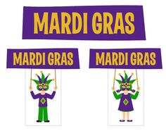 FREE Mardi Gras Printables from Love Party Printables | Catch My Party