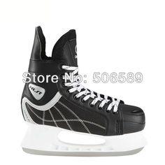 Miễn phí vận chuyển dành cho người lớn của Hockey skates giày trượt #38-#46 màu đen