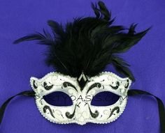 Plain Mardi Gras Masks | Found on partyoasis.com
