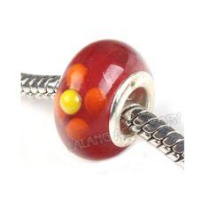 Lotto di 10 Perle Perline Beads a foro largo di Porcellana Ceramica per Collana Bracciali di Tipo Pandora
