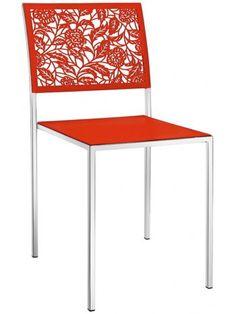 Set 4 sedie schienale alto in ecopelle imbottita BIANCO e gambe cromate