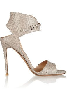 Gianvito Rossi Python sandals | THE OUTNET