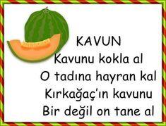 KAVUN Indoor Games For Kids, Activities For Kids, Turkish Lessons, Words, Drama, Herbs, Activities, School Supplies, Turkish Language