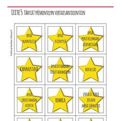 tähdet, itsearviointi, vertaisarviointi, palaute, arviointi, ops2016, arviointipohja, positiivinen pedagogiikka