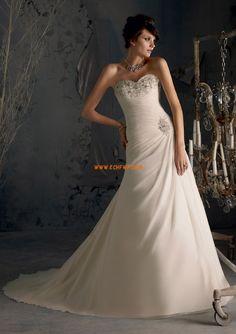 Chiffon Winter Schnürung Brautkleider 2014