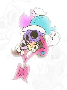 :Kirby: Sweet bitter memories. by Veonara on DeviantArt. Part of me thinks this is freaky, part of me sad, and another part cute. Hmmmm....?