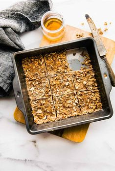 Super easy 3 Step Paleo Baklava Flavored Bars! healthy vegan friendly paleo baklava bars that are packed full of sweet nutty flavor and healthy fats. Lower in carbs, sugar, and great for snacking or breakfast on the go. A  paleo bar that tastes like desse