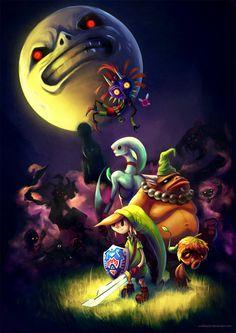 Majoras Mask By Crabhearst Legend Of Zelda Characters Link Art Shop Video