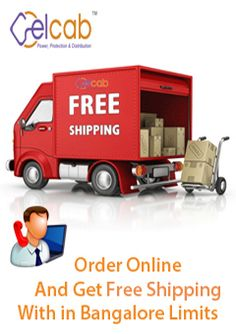 Now you can order all types of Electrical products Online and Get a free Shipping in Bangalore city Limit for more information  visit - www.elcab.co.in