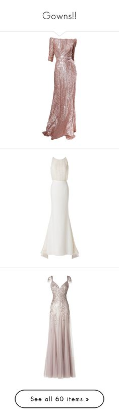 """""""Gowns!!"""" by joanna-tabakou ❤ liked on Polyvore featuring dresses, gowns, elie saab, vestidos, long dresses, a line gown, pink evening dress, a line dress, pink collared dress and pink evening gowns"""