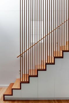 Modern Staircase Design Ideas - Search pictures of modern stairs and discover design and also design ideas to inspire your very own modern staircase remodel, including unique barriers and storage . Stair Handrail, Staircase Railings, Staircase Design, Stairways, Staircase Ideas, Spiral Staircases, Bannister, Staircase Remodel, Open Staircase