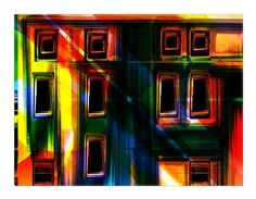"""Awesome multicolor digital art of a group of city buildings. Add beauty to any room with this gorgeous canvas wrapped art print. Features: • UV-coating, scratch resistant • 1.25"""" thick edges • Ready t"""