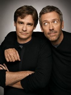 "Robert Sean Leonard and Hugh Laurie, I really want to know what their real life relationship is like....I bet they're just as idiotic off set as on! ""Ha! Take that, House!"""