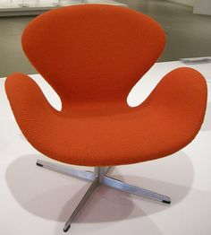 Swan Chair by Arne Jacobsen. Many iconic pieces from the 20th century are still available today: http://www.blog.sofasandsectionals.com/4-classic-furniture-designers-whose-products-you-can-still-purchase-today