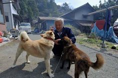 """Mr. Matsumura is adamant: """"Animals and people are equal."""" That's why the 55-year-old rice farmer returned to the Fukushima exclusion zone -- to care for the animals left behind."""