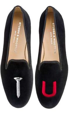 The 'College' Stubbs & Wootton Slippers Gets the Message Across #velvet #fashion trendhunter.com