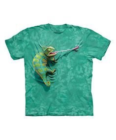 Look what I found on #zulily! Teal Climbing Chameleon Sublimated Tee - Toddler & Kids #zulilyfinds