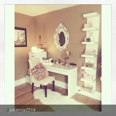 How do you personalize your space? Check out the lovely vanity created by @Julianna2314. Thanks for sharing!