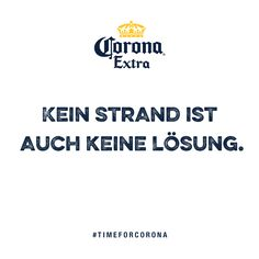 Erkenntnis des Tages: #TimeforCorona  Kreiere jetzt deine eigene Beach Card: www.corona.de/beach-cards Beach Cards, Strand, Tech Companies, Company Logo, Logos, Corona, Logo