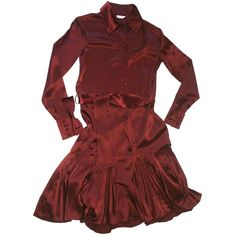 Pre-owned MATTHEW WILLIAMSON Burgundy Silk Dress ($105) ❤ liked on Polyvore featuring dresses, silk dress, preowned dresses, pre owned dresses, matthew williamson dresses and burgundy red dress