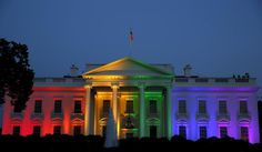 In honor of the Supreme Court ruling gay marriage bans are unconstitutional, the White House turned into the rainbow house on June 26, 2015.