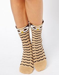 Owl Socks Pinned by www.myowlbarn.com