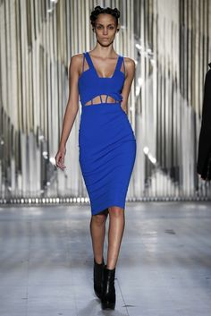 Kimberly Ovitz RTW Fall 2013 - Slideshow - Runway, Fashion Week, Reviews and Slideshows - WWD.com blue cut out dress gown