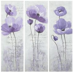Safavieh 3-piece Poppy Canvas Wall Art Set, Purple ($330) ❤ liked on Polyvore featuring home, home decor, wall art, purple, floral canvas wall art, three piece wall art, safavieh, 3 pc wall art and 3 piece canvas wall art