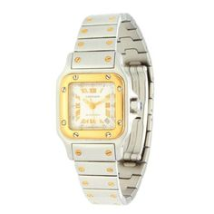 Ladies CARTIER Santos Galbee 18K Gold Steel Automatic Watch W20045C4 BF315623 - Jollys Jewellers
