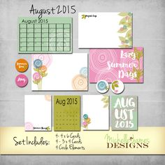 August 2015 Kit - Project Life Pocket Pages :http://michellejdesigns.com/august-2015-kit-project-life-pocket-pages/