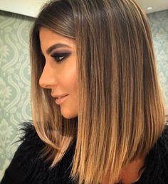 New Hair Color Balayage Medium Long Bob Haircuts Ideas Lob Hairstyle, Long Bob Hairstyles, Short Hairstyles With Highlights, Hairstyles 2018, Winter Hairstyles, Bob Haircuts, Trendy Hairstyles, Hairstyle Ideas, Hair Color Balayage