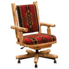 Fireside Lodge Cedar Bankers Chair Upholstery: Stampede