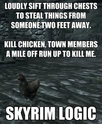 Skyrim logic #skyrim #dawnguard #hearthfire