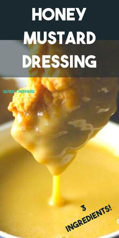 Creamy Honey Mustard Dressing Easy homemade honey mustard sauce and dip! Tangy delicious and whips up on 30 seconds ! Dip Recipes, Sauce Recipes, Great Recipes, Cooking Recipes, Favorite Recipes, Cooking Tips, Dinner Recipes, Honey Mustard Dressing, Honey Mustard Sauce