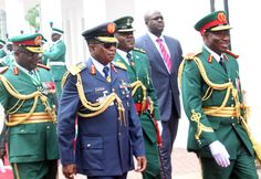 Nigerian Independence day celebration: President Goodluck Johnath in the Nigerian Army Ceremonial attire on Independence day.