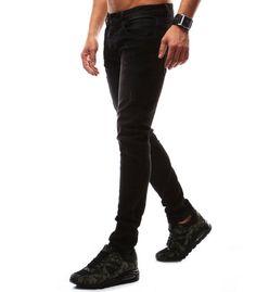Čierne riflové nohavice pánske