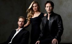 """Season Four of HBO series """"True Blood"""" premieres Sunday with more sex and gore as the love triangle between Eric, Bill and Sookie, played by Anna Paquin, heats up. Bill True Blood, True Blood Season 4, True Blood Series, Alexander Skarsgard True Blood, Vampire Series, Season Premiere, Hollywood Life, Favorite Tv Shows, Favorite Things"""