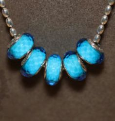 Blue faceted
