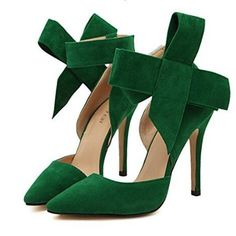 Sexy Butterfly Knot Removable Slim Pointed Toe High Heel Stilettos Pumps is well-designed. NewChic offers a wide range of cheap pumps shoes for women, like black pumps, white pumps, etc. Sexy High Heels, High Heel Pumps, Stiletto Pumps, Pointed Toe Pumps, Pumps Heels, Peep Toe, Slingback Shoes, Suede Pumps, Emerald Green Heels