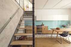 Spanish studio Nook Architects has recently refurbished this two-storey house for a young couple in Barcelona.