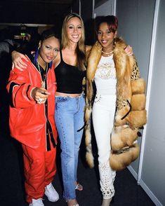 da brat style Da Brat, Mariah Carey and Mary J Blige the EMAs. 90s Hip Hop, Hip Hop And R&b, 2000s Fashion, Hip Hop Fashion, Mary J Blige, Da Brat, Nostalgia, Back In The 90s, Black Girl Aesthetic