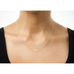 small bar necklace, sterling silver - Dogeared $82
