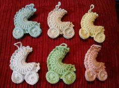Souvenirs Cochecito/carrito Crochet Nacimiento, Baby Shower - $ 15,00 en MercadoLibre