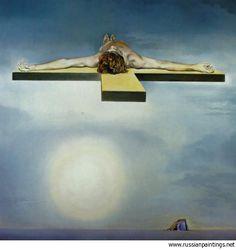 Dali Salvador - 'Gala's Christ' (stereoscopic work, left component)