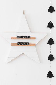 DIY star scrabble message board