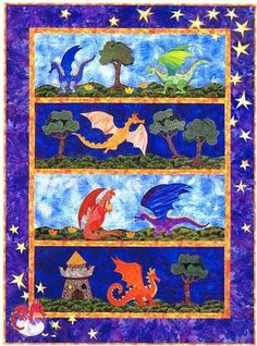 would love to make this for a baby quilt since my hubby loves dragons! :)