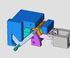 T branch injection mold Plastic Moulding, Plastic Injection Molding, Mechanical Design, Mechanical Engineering, Injection Mold Design, 3d Cad Models, Drilling Machine, Mould Design, Plastic Molds