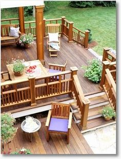 Multi tiered Deck