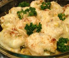 Use your hard boiled eggs  - Stuffed Eggs Au Gratin with Bechamel Sauce